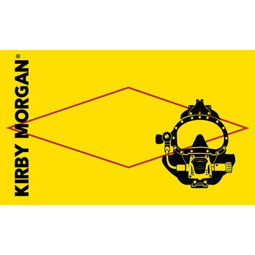 Kirby Morgan 97 Helmet Flag