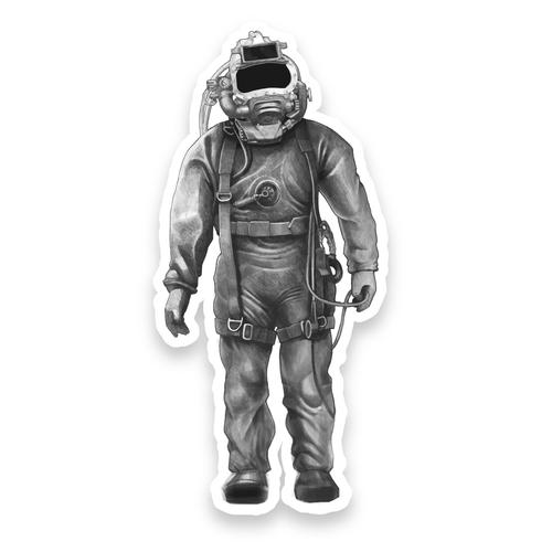 KM Diamond Diver Sticker