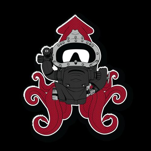 Red Squid KM Diamond Sticker