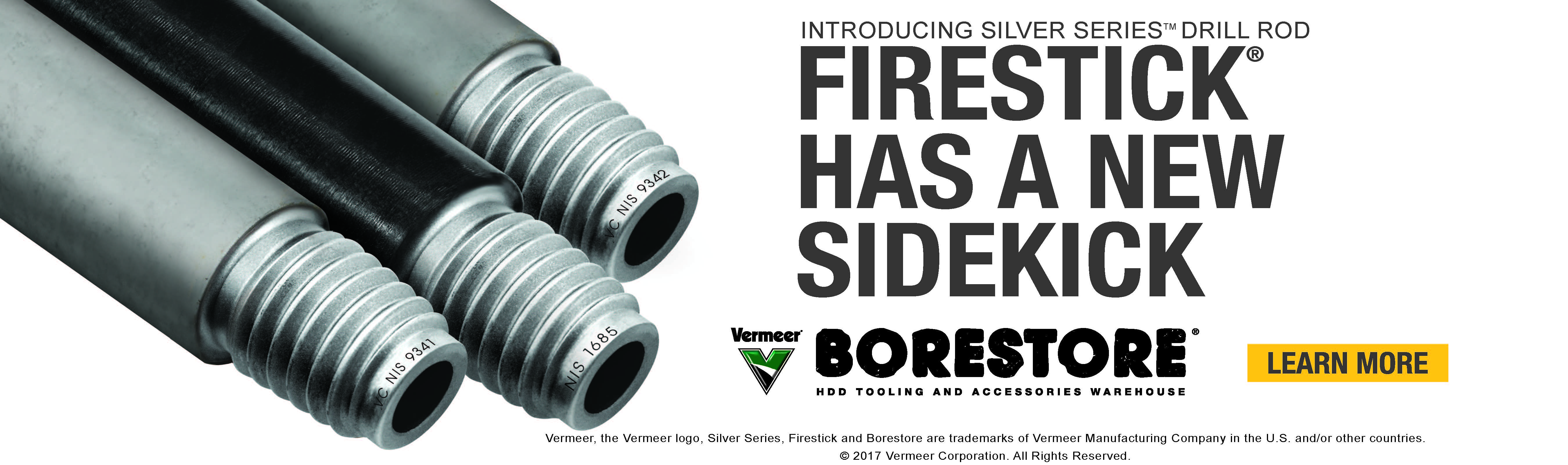 Introducing Silver Series Drill Rod, now available at the Vermeer Borestore. Learn More.