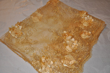 Golden Lap Scarf with Bling