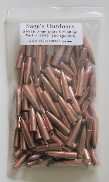 Speer 7mm 160 Grain Hot-Cor SP Bullets #1635 / 100 Qty