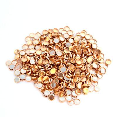 Copper Gas Check Stock Photo