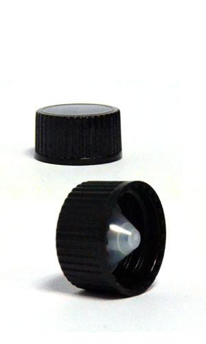 BLACK POLYPROPYLENE CAP-POLYCONE LINER -22-400 NECK FINISH