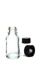 10 ML (.34 oz) Clear Essential Oil Euro Bottle with Polycone Cap