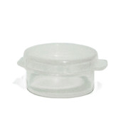 5 Gram Clear Round Hinged  Plastic Jar