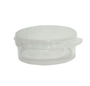 10 Gram Clear Round Hinged Plastic Jar