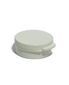 3 Gram White Round Hinged Plastic Jar