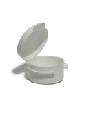 3 Gram White Round Hinged PlasticJar