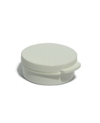 10 Gram White Round Hinged Jar
