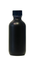 60ML (2oz) Black Coated Glass Boston Round