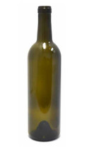 Antique Green Bordeaux Wine Bottle