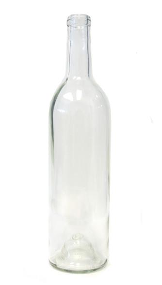 750ml Flint Clear Bordeaux Wine Bottle #133 - Case of 12