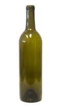 750ml Antique Green Bordeaux Wine Bottle #42