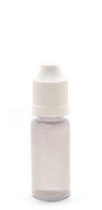 10ML (0.34oz) LDPE Plastic Squeeze Bottle with White Child Resistant Cap & Dropper Tip