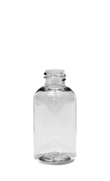 30 ml (1 oz.) Clear PET Plastic Boston Round Bottles