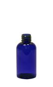 30 ml (1 oz.) Blue PET Plastic Boston Round Bottle w/ no closure