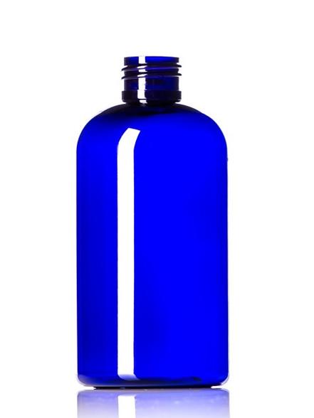 240ml (8 oz) Blue PET Plastic Boston Round Bottle