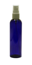 240 ml (8oz.) Blue PET Plastic Bullet Bottle with White Sprayer