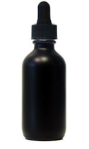 60ML (2 oz) Black Coated Glass Boston Round W/ Regular Dropper