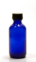 60ML (1oz) Blue Boston Round Bottles with Polycone Caps