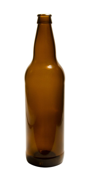22 Oz Amber Beer Bottle (Case of 12)