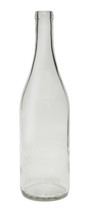 750ml Flint / Clear Burgundy Wine Bottle #1861F With Cork - Case of 12