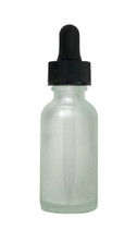 30ML (1oz) Frosted Clear Boston Round Bottles with Regular Dropper
