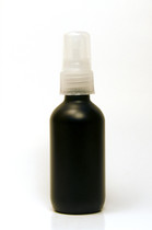 30ML Black Boston Round with Clear Fine Mist Sprayer
