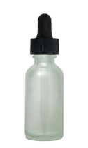 60ML (2oz) Frosted Clear Boston Round Bottles w Regular Dropper