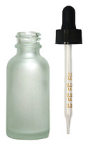 60ML (2oz) Frosted Clear Boston Round Bottle W/ Graduated Dropper