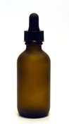 60ML (2oz) Frosted Amber Boston Round Bottles w Regular Dropper