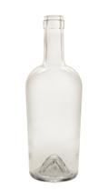 750ml Clear Bordeaux Port Wine Bottle