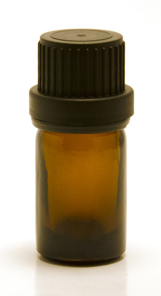 5 ML Amber Essential Oil Bottle with Heavy Duty Tamper Evident Cap & Orifice Reducer