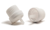 White Heavy Duty Tamper Evident Polypropylene Cap With Orifice Reducer for all Euro Bottles - 18-400 Neck Finish
