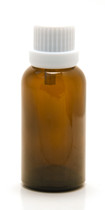 30ML Amber Essential Oil Bottle with White Heavy Duty Tamper Evident Cap & Orifice Reducer
