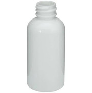 60 ml (2 oz) White PET Plastic Boston Round