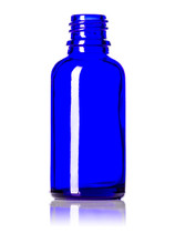 30ML (1oz.) Blue Glass Essential Oil Euro Bottle