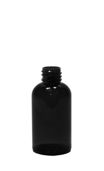 30ml 1oz Black Pet Plastic Boston Round Bottle