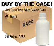 30ML (1oz) White Ceramic Euro Bottle case-264 bottles