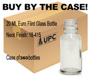 20 ML  Euro Flint Glass Bottle 18-415 - Case of 360 bottles
