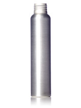 4 oz silver aluminum bullet round bottle with 24-410 neck finish
