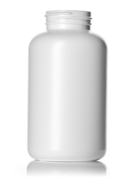 400 cc white HDPE pill packer bottle with 45-400 neck finish
