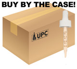 Case of Glass Regular Calibrated Dropper with 76mm Pipette For 30ml Boston Round with 20mm-neck (white)