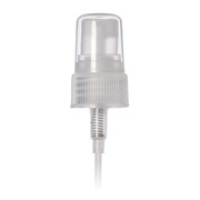 24-400 Ribbed Clear Fine Mist Sprayer w/cap