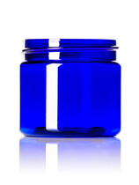 2 oz cobalt blue PET single wall jar with 48-400 neck finish