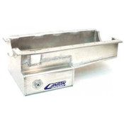 Engine Oil Pan, Drag Race, Front Sump, 8 qt, 8 in Deep, Aluminum, Natural, Small Block Ford, Each