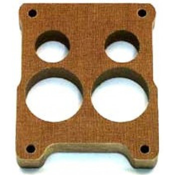 Carburetor Spacer, 1 in Thick, 4 Hole, Spread Bore, Phenolic, Each