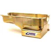 Engine Oil Pan, Street / Strip / Road Race, Front Sump, 7 qt, 8 in Deep, Steel, Cadmium, Small Block Ford