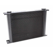 Fluid Cooler, 9 Series, 16 x 10-3/4 x 2 in, Plate Type, 22 mm x 1.50 Female Inlet, 22 mm x 1.50 Female Outlet, Aluminum, Black, Universal, Each